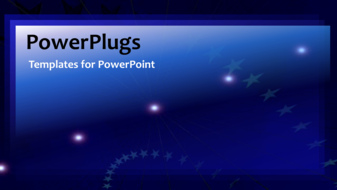 PowerPoint Template - animated stars background - Title Slide